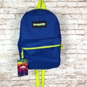 """Trail maker neon blue classic 17"""" backpack"""